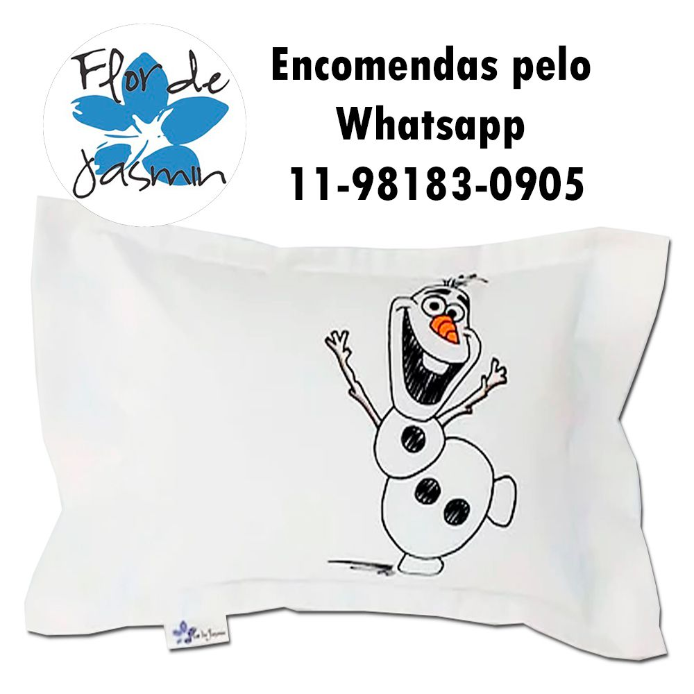 Travesseiro Personalizado Olaf Frozen P 20 cm x 30 cm