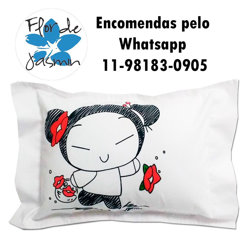 Travesseiro Personalizado Pucca P 20 cm x 30 cm