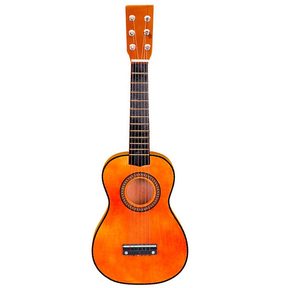 Violão de Madeira Cordas de Aço Brinquedo Musical Infantil