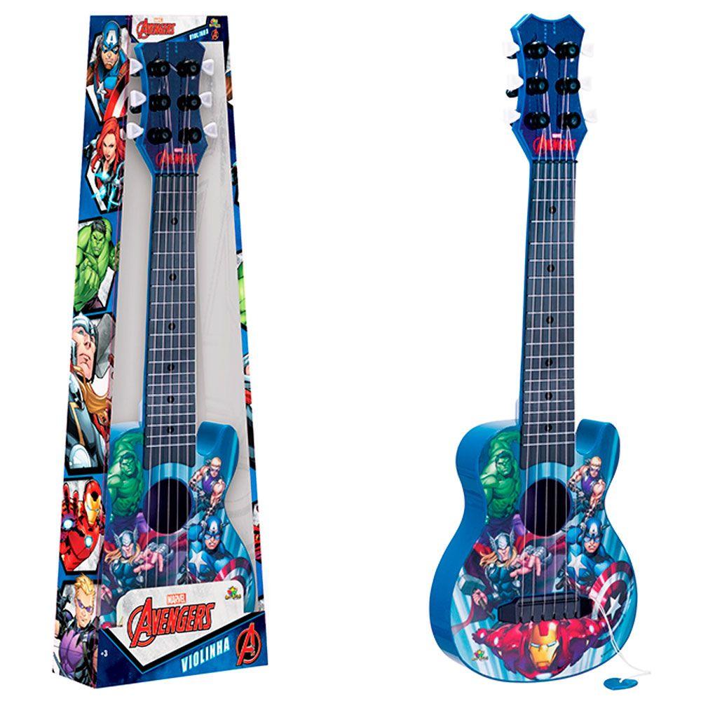 Violão Violinha dos Vingadores Marvel Brinquedo Infantil