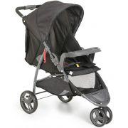 Carrinho Bebê 3 rodas Cross Trail 1450 Galzerano Preto
