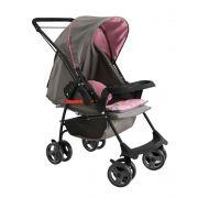 Carrinho de Bebê Milano 1016 Reversível Il Galzerano Rosa