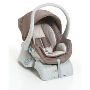 Kit bebê conforto Galzerano Cocoon 8181 Capuccino com base para carro 8185