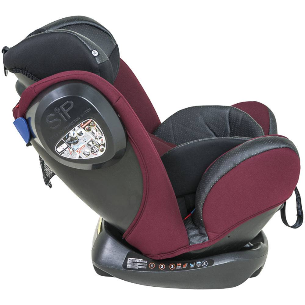 Cadeira Para Auto Stretch 0 A 36 Kg Preto Com Vinho - Kiddo
