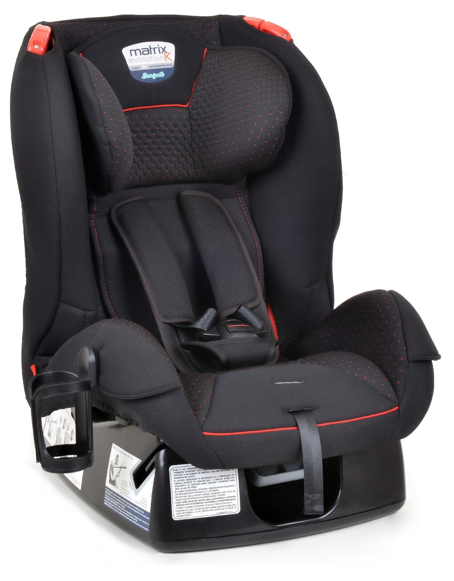 Cadeira Reclinável Burigotto Matrix Evolution Dot Vermelha
