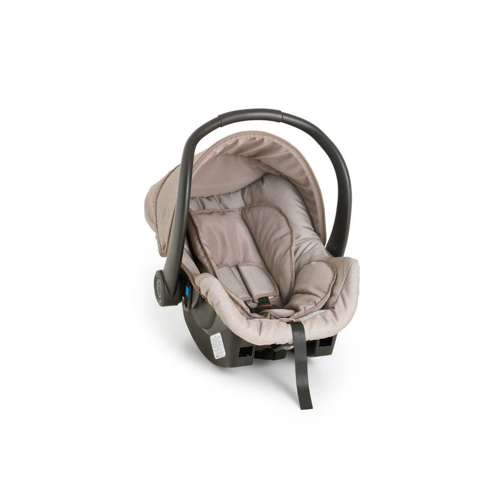 Carrinho Bebê Galzerano Olympus Capuccino 1440 vira moisés com Bebê Conforto Cocoon e Base