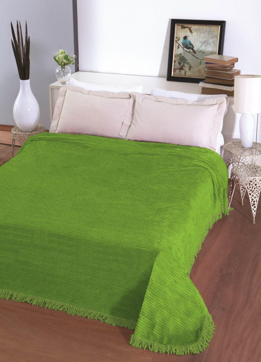 Colcha Chenille Casal Jolitex Carisma 220 x 240 cm Verde