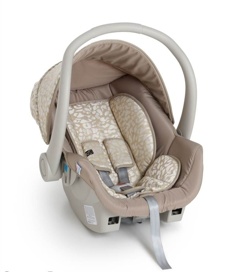 Kit bebê conforto Galzerano Cocoon 8181 bege com base para carro 8185