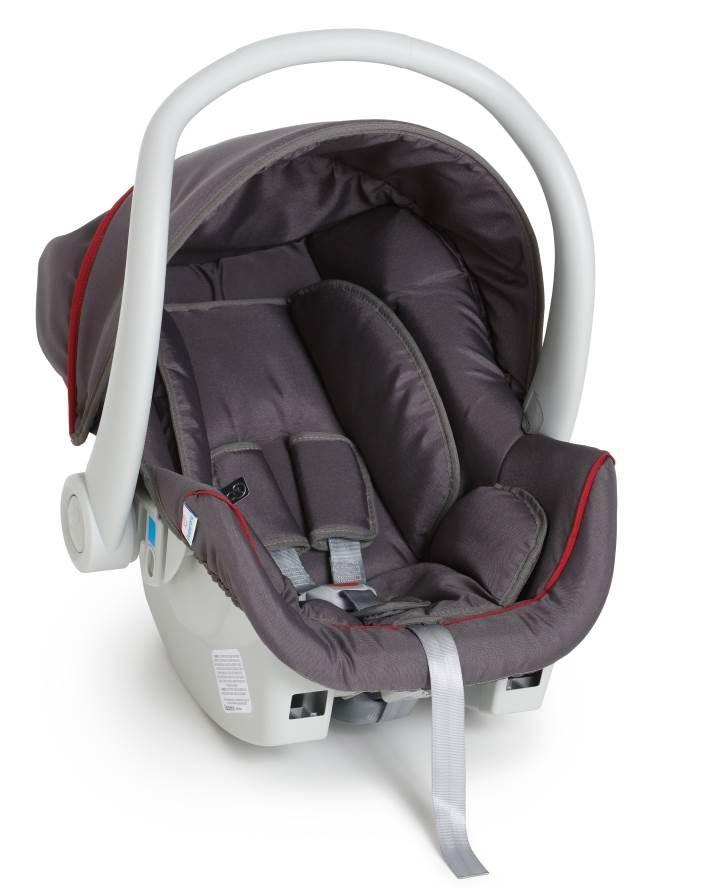 Kit bebê conforto Galzerano Cocoon 8181 Grafite/Vermelho com base para carro 8185