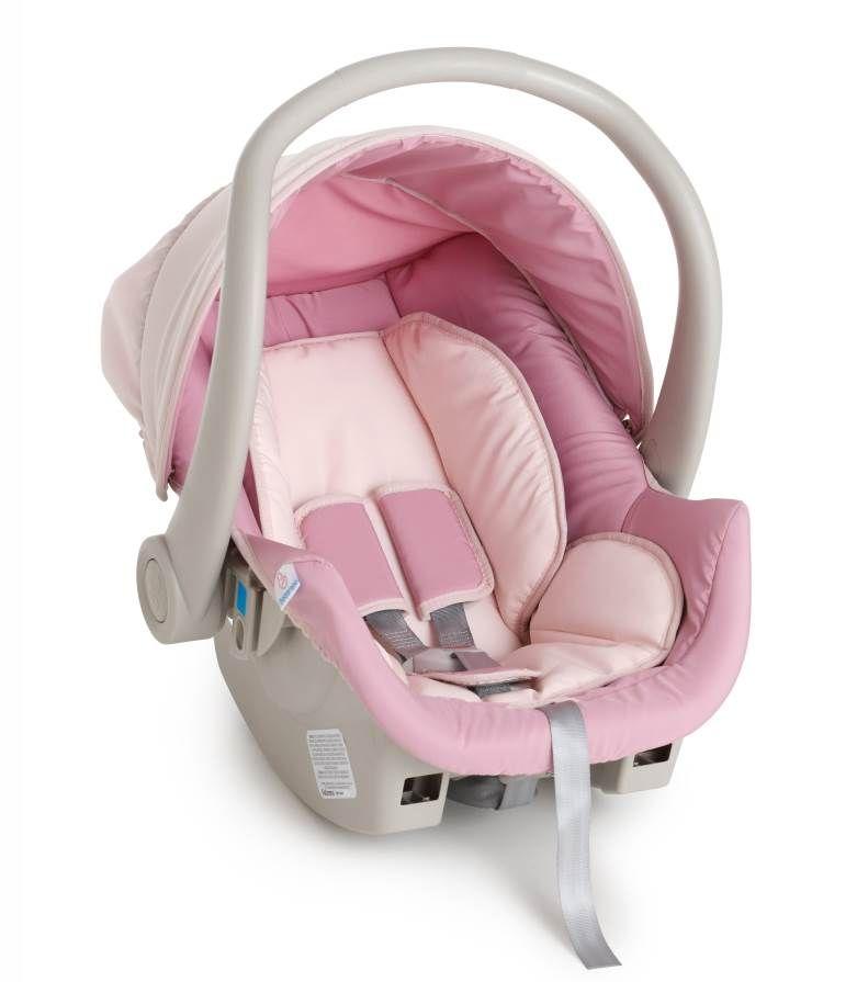 Kit bebê conforto Galzerano Cocoon 8181 Rosa Bebê com base para carro 8185