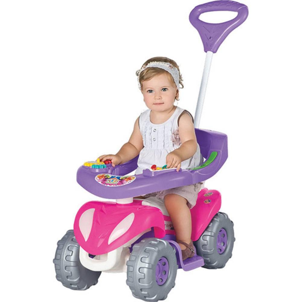 Super Flower Quadriciclo Infantil Rosa Calesita