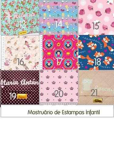 Kit Escolar - Mochila +Estojo + Lancheira Personalizados