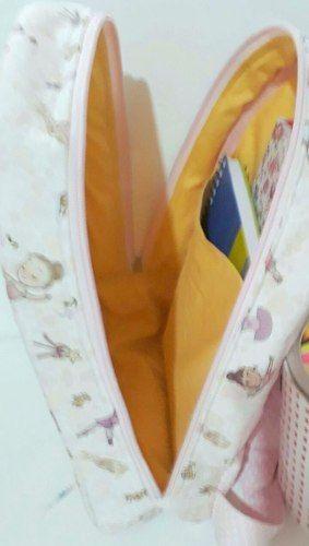 Kit Mochila Infantil Personalizada e Necessaires - 3 Peças