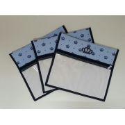 Kit Saquinho Maternidade Coroa Azul - 3 Unidades