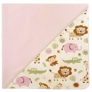 Manta para Bebê em tecido Safari Rosa