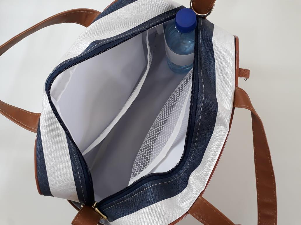 Kit Bolsa Maternidade Azul - 4 Peças