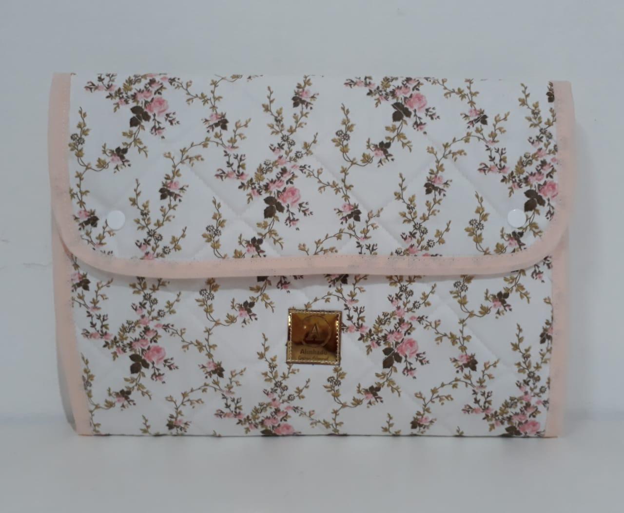 Kit Floral - Porta Fraldas + Trocador