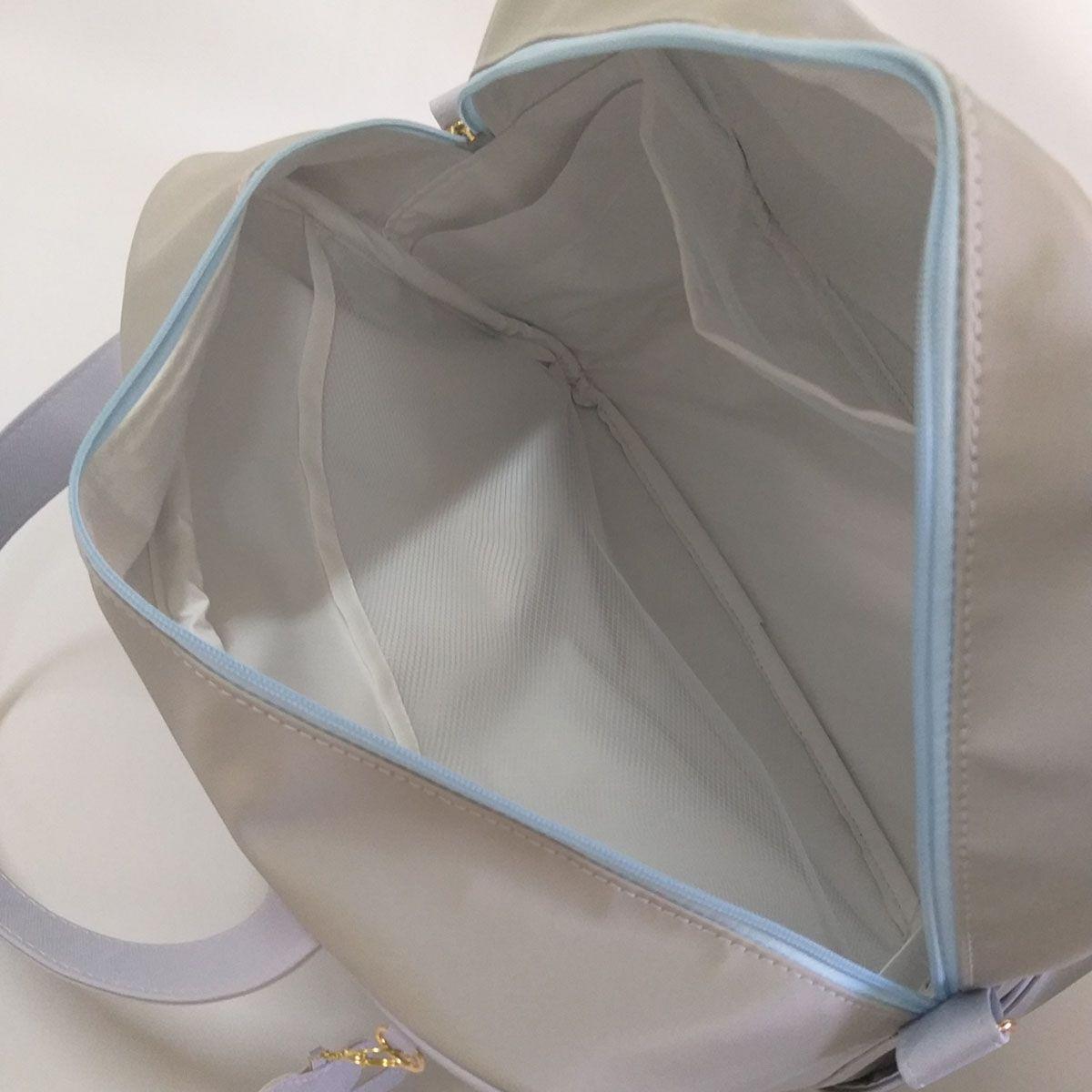 Kit Mala Maternidade + Bolsa P Matelasse Cinza com Azul