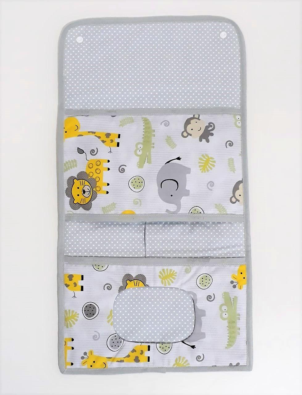 Kit Maternidade - 3 Saquinhos + Porta Fraldas e Trocador