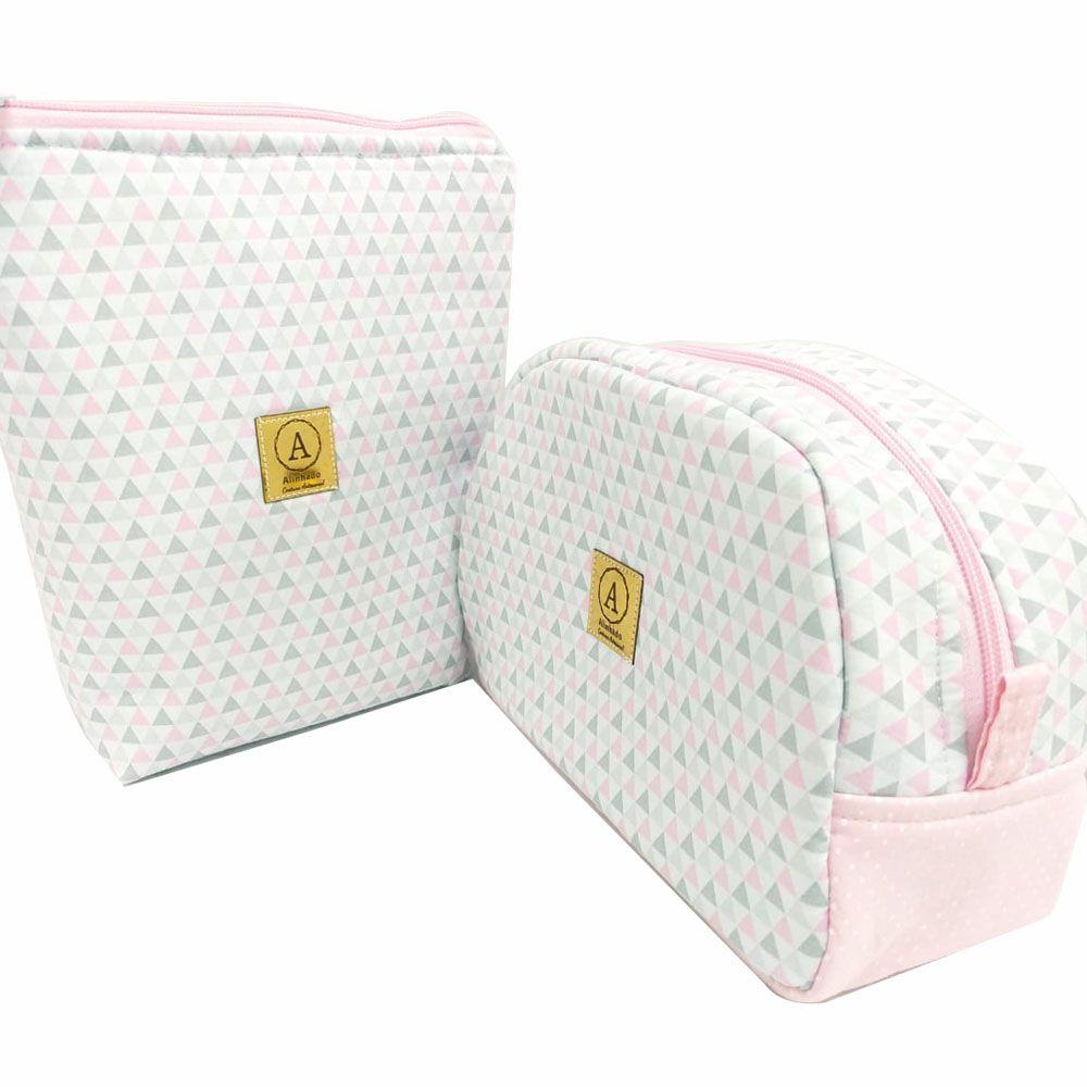 Kit Maternidade Triangulo  - 4 Saquinhos E 2 Necessaires