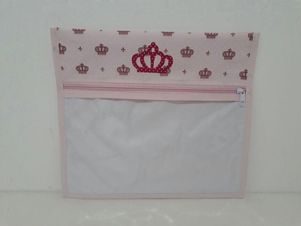 Kit Saquinho Maternidade Coroa Rosa - 3 Unidades