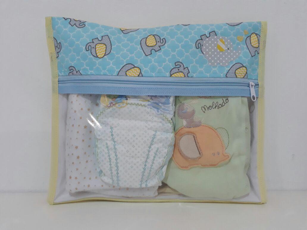 Kit Saquinho Maternidade Elefantinhos - 3 Unidades