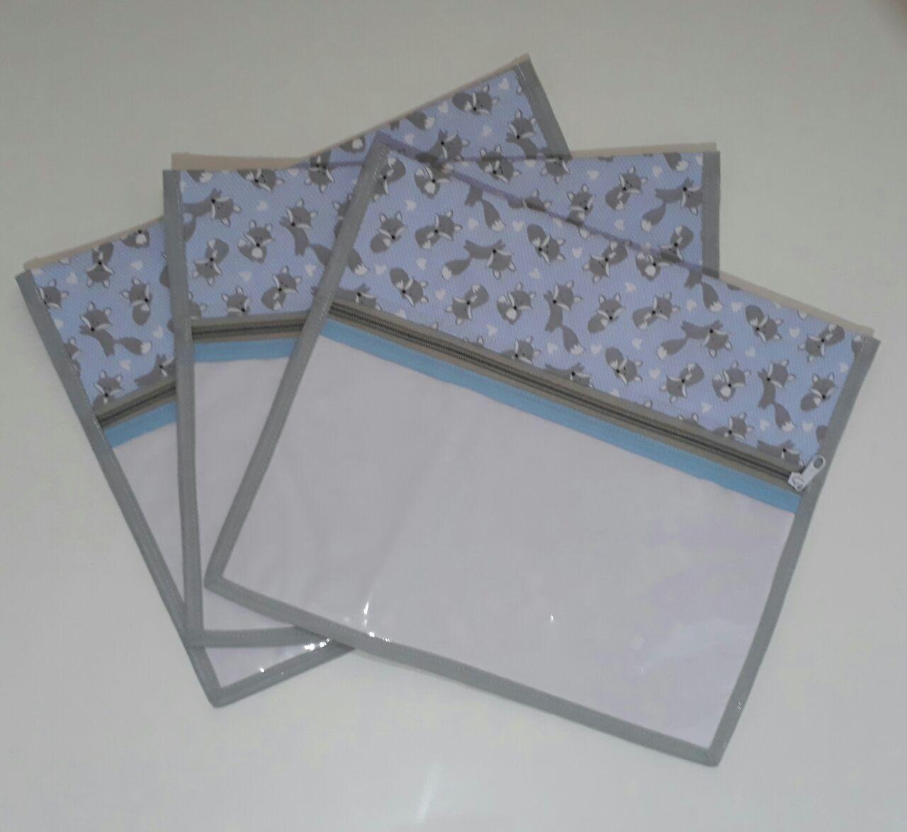Kit Saquinho Maternidade Raposinha Azul - 3 Unidades