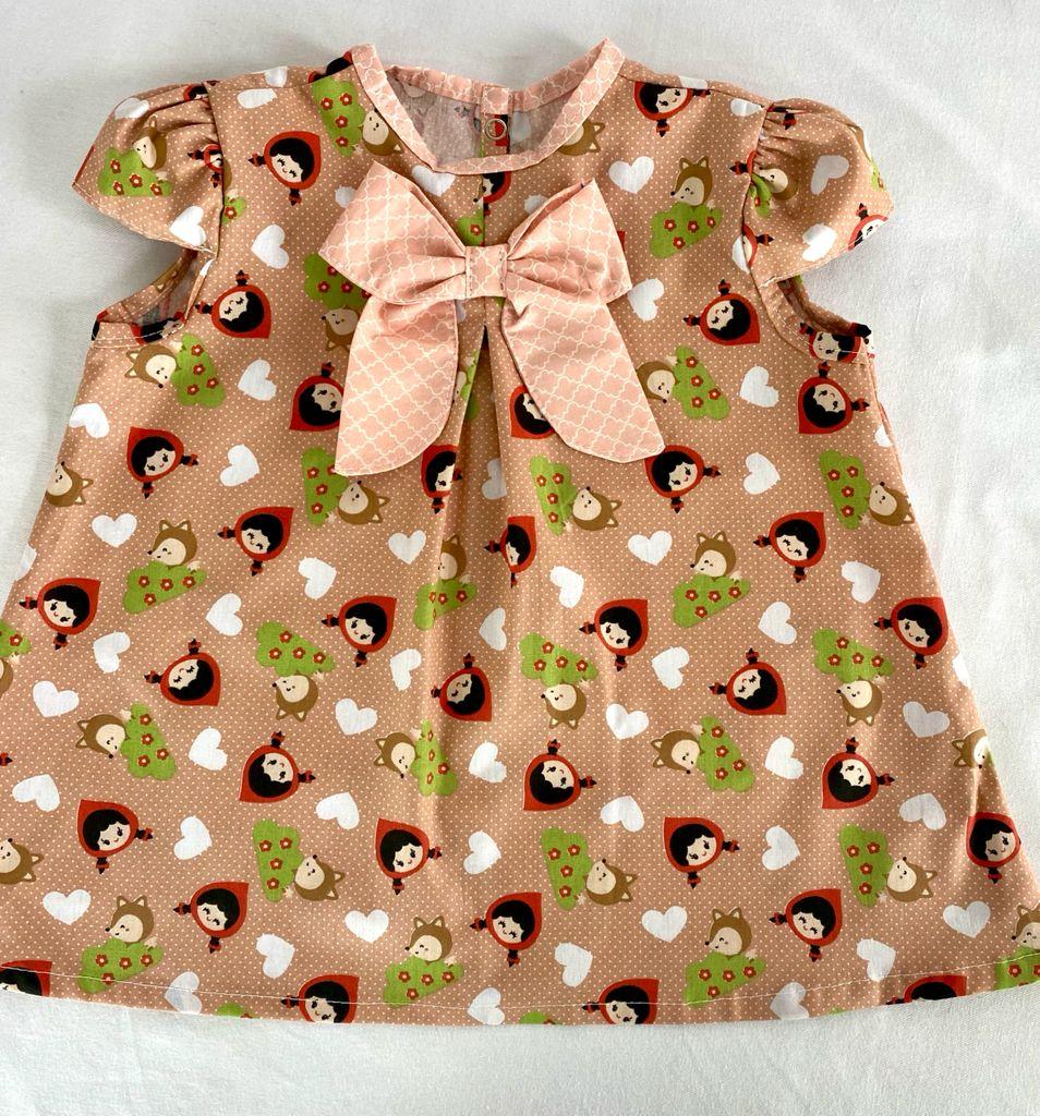 Vestido bebê Estampado coral + Calcinha