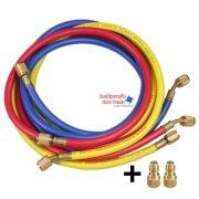 Conjunto Mangueira R410 (90cm) 1/4 + Adaptador