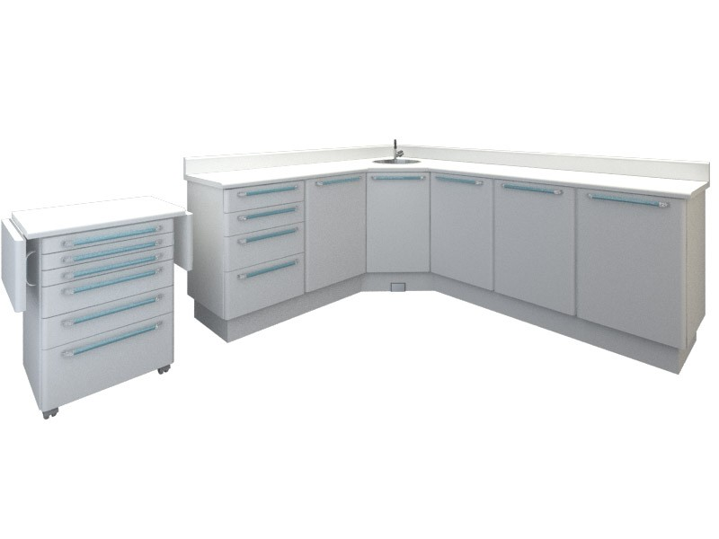 Armário Odontológico Planejado 04 - 1.80 x 2.30 m