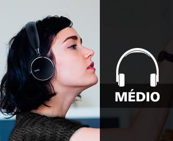 fone de ouvido médio