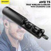 Awei T5 Bluetooth Sem Fio Com Estojo de Recargas Completas