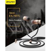 Fone de Ouvido Awei Es70ty com controlador de volume