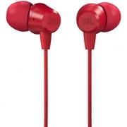 Fone de Ouvido IN-EAR JBL C50 HI - Vermelho