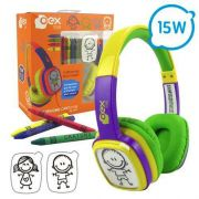 Headphone Cartoon OEX Hp 302 Roxo Verde|Foneland