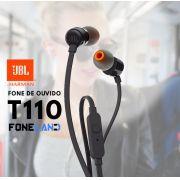 T110 JBL Tune Fone de ouvido com microfone 110