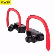 Awei T2 Fone de Ouvido Bluetooth para Sport - Preto/Vermelho