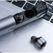 T8 Awei TWS - Fone de ouvido Bluetooth com carregador