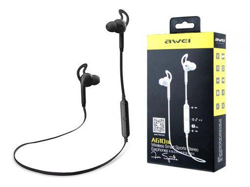 A610 Blk Awei - Fone de Ouvido Bluetooth para Esportes