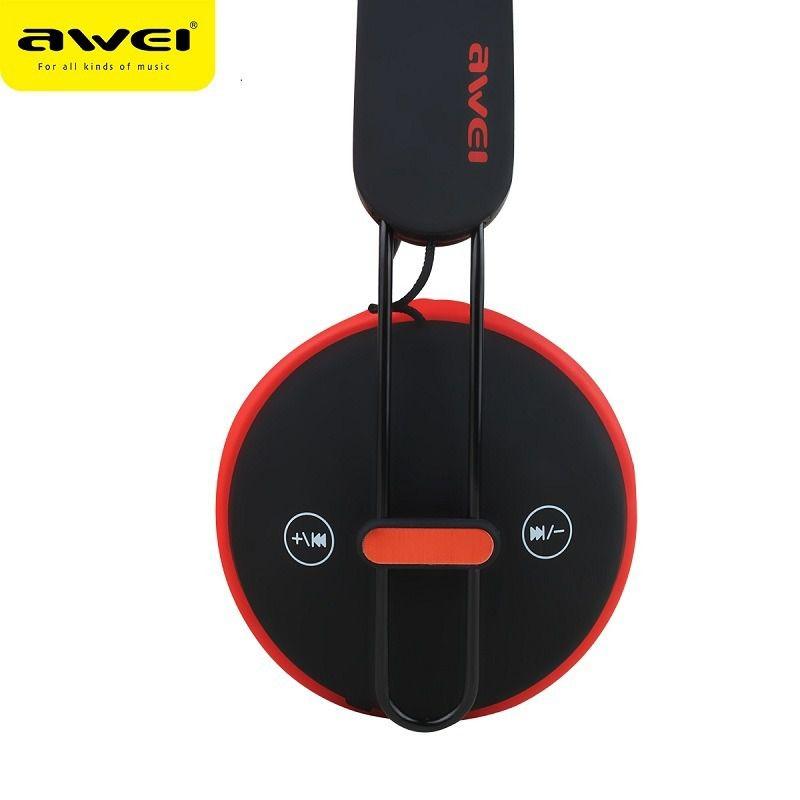 A800BL Awei - Fone de Ouvido Bluetooth On Ear - Preto-Vermelho