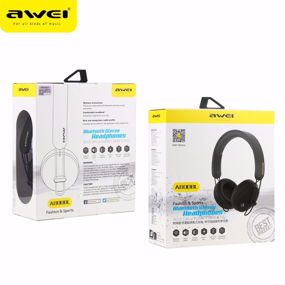 A800BL Awei - Fone de Ouvido Bluetooth On Ear - Preto