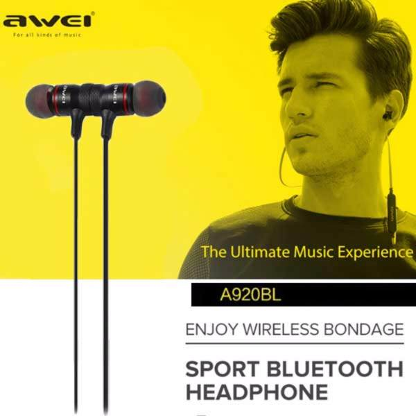 A920Bl  Awei Fone de Ouvido Wireless - Preto