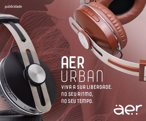 AerUrban – Fones de Ouvido Bluetooth Over-ear – Marrom