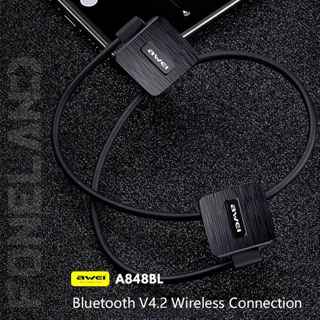 Awei A848BL Fone de Ouvido Bluetooth In Ear para Esportes