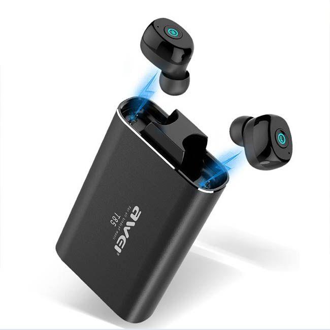 Awei T85 Fone de ouvido Bluetooth 5.0 com Power Bank