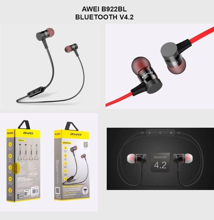 B922 Awei - Fone de Ouvido de Bluetooth para  esportes