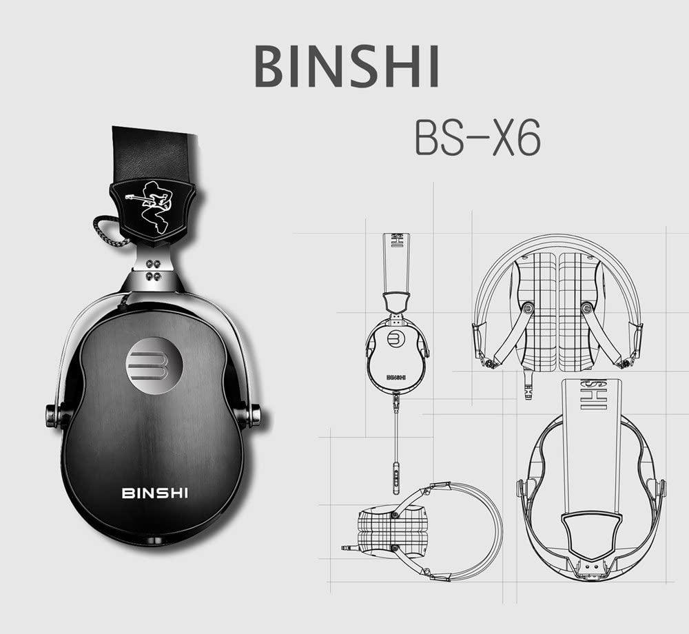 Fone de Ouvido Binshi  Music Guitar Headphones BS-X6
