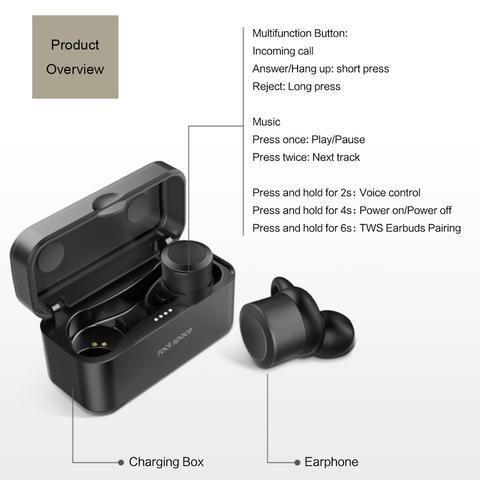 EB10 Fone de Ouvido Rock Space  Sem Fio Bluetooth 4.1