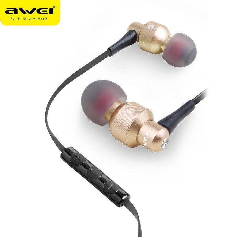 ES 50TY Awei Fone de Ouvido com Microfone Dourado|Foneland