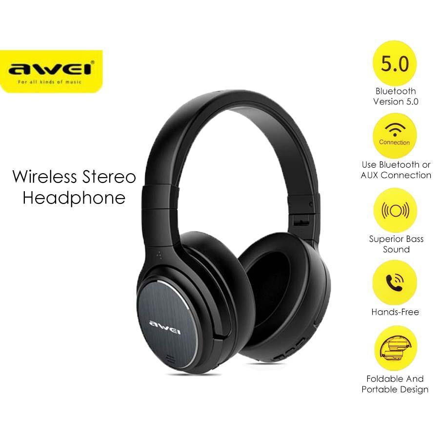 Fone de Ouvido Awei A780BL BT - sem fio Bluetooth 5.0  é na Foneland